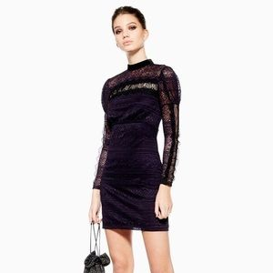 Topshop Long Sleeve Lace Dress